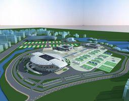 3D model Grand Stadium with Florid Exterior