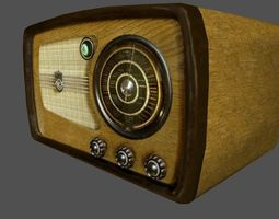 Retro radio 3D asset