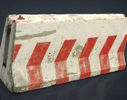 3D asset RoadBlock