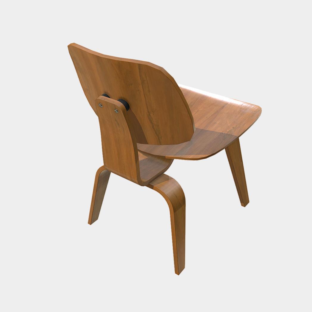 Low Poly Pbr Eames Wood Chair 3d Model Fbx Ma Mb 1 ...
