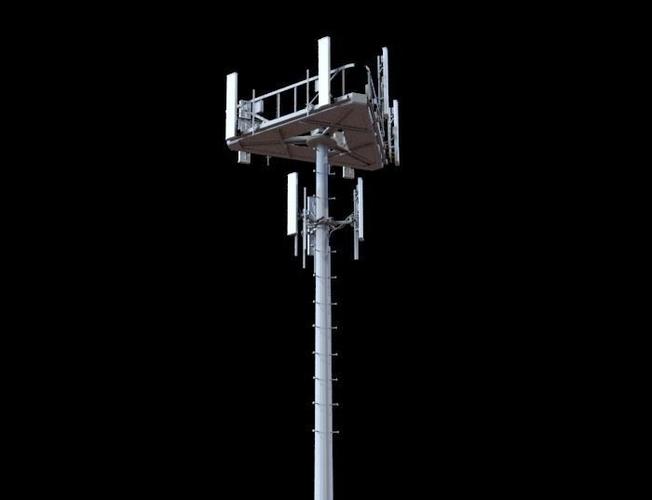 telecommunication tower 3d model max fbx 1