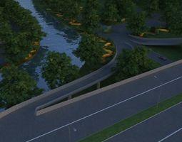 city building 3D landscape