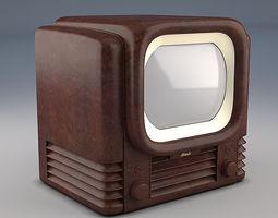 Bush tv22 1950 retro vintage lamp tube television 3D