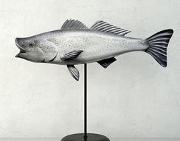 George Strunk Handmade Wooden Fish Sculpture 3D