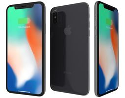 3D model Apple iPhone X Space Gray