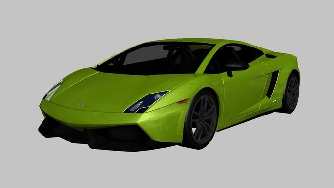 Lamborghini Gallardo Lp570 4 Superleggera 3d Model Low Poly Max Obj 3ds Fbx  1 ...