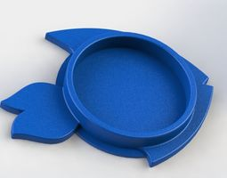 3D printable model Fish Coaster kitchen