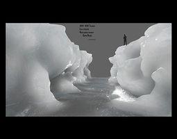 3D asset ice canyon 5