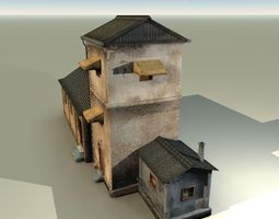 Blocks village2 3D asset