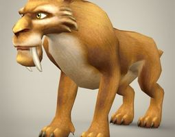 3D asset Ice Age Lion Character Diego