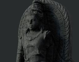 3D model Low Poly PBR Shiva Statue