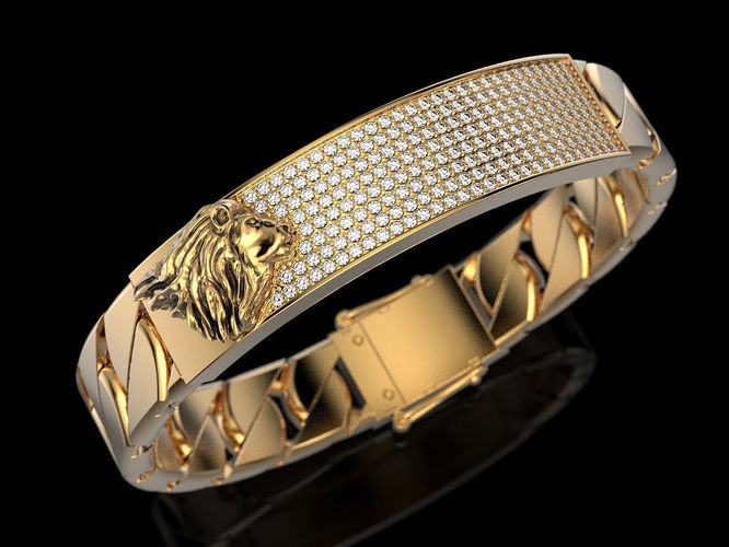 bracelet with lion 3d model stl 3dm 1