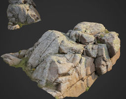 low-poly 3d scanned nature stone 019