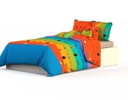 poplin Double Bed Bed Linen 3D