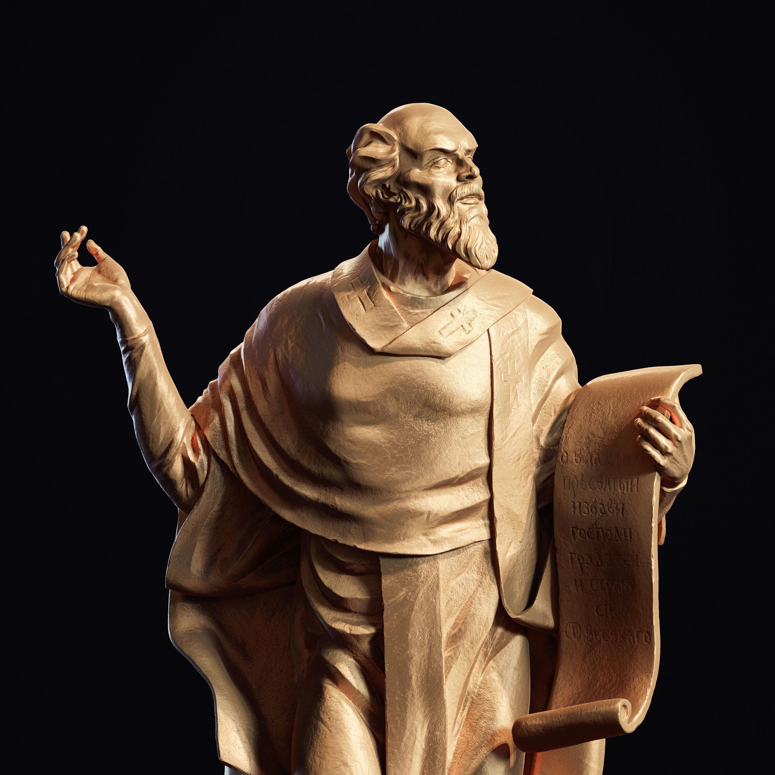 Ancient statue 3d-print model