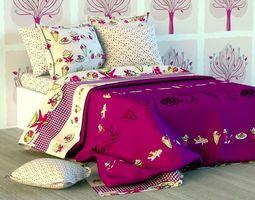 Double Bed Bed Linen silk 3D