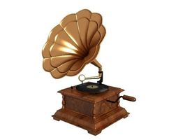 old Gramophone 3D model VR / AR ready