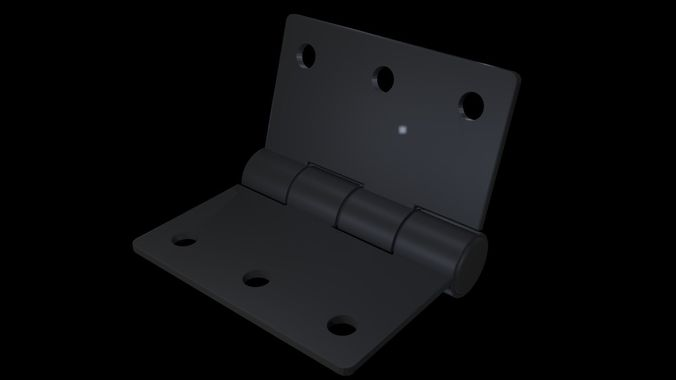 hinge 3d model blend 1