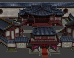 chinese theatre 3D asset