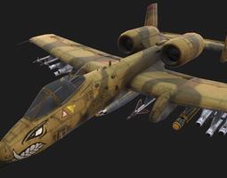 3D asset A-10 Thunderbolt II