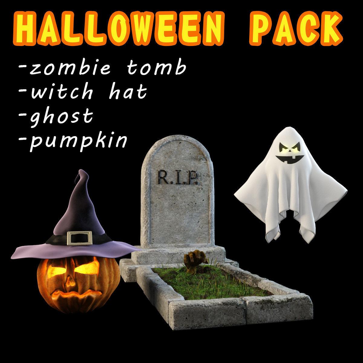 Halloween pack 4 items