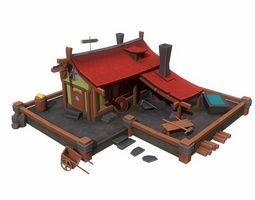 forge building 3D asset