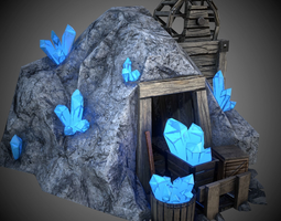 Crystal mine 3D model