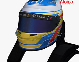 Alonso helmet 2017 3D model
