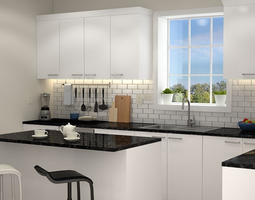 3D model Kitchen Interior 02