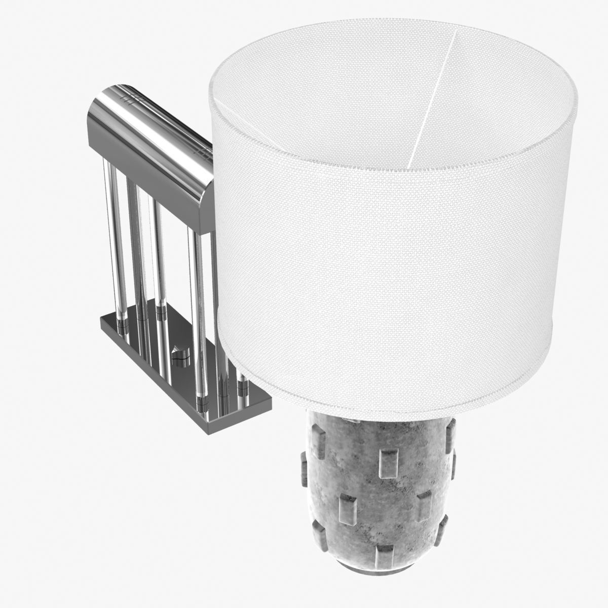 Banker table lamp and boulder table lamp 3D | CGTrader