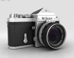 3D model Nikon F Silver