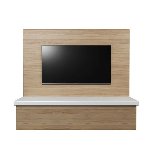 Tv Wall Panel With A Flat Screen Model Low Poly Obj Mtl S