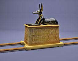 Egyptian Anubis Shrine Tutankhamun egyptian 3D