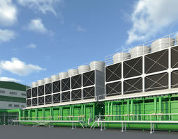 3D other Cooling tower