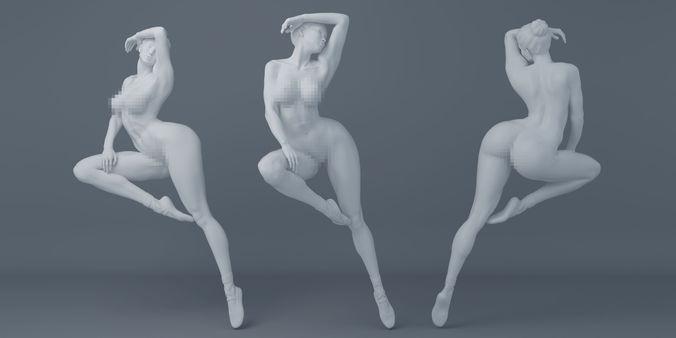 nude ballet actor 3d model stl 1