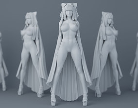 3D print model Sexy witch with cloak