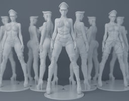 3D print model Wearing leather sexy girl 003