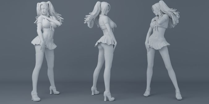 short skirt girls 3d model stl 1
