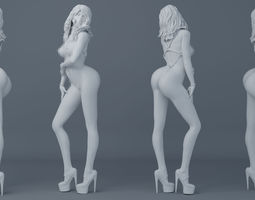Belt girl 004 3D printable model