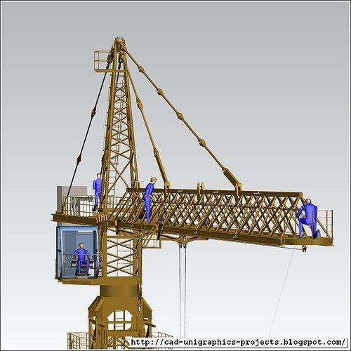 Tower Crane Self Assembly : Tower crane assembly d model cgtrader
