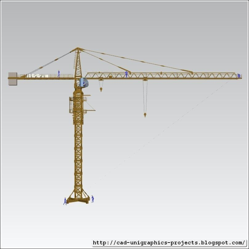 Tower Crane Parts Name : Tower crane assembly free d model stl cgtrader