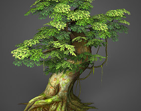 Game Ready Low Poly Tree 03 3D asset