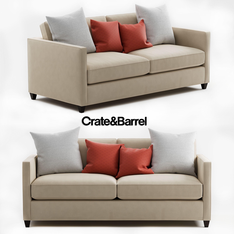 3d Crate And Barrel Dryden Apartment Sofa Barrel Cgtrader
