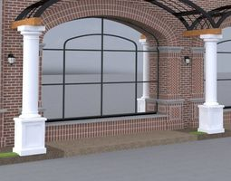 ARCHITECTURAL - ARCHED TRELLIS - WITH COLUMNS 3D model
