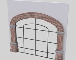 arched ARCHED WINDOW STOREFRONT FULL HEIGHT 3D model