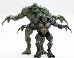 Green Monster 3D print model being