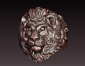 fierce 3D Lion ring filigree