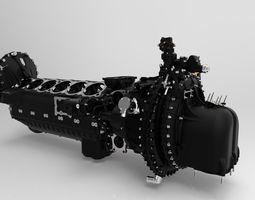 3D printable model gearbox casing