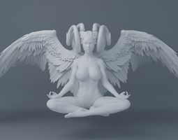 3D printable model Sexy dark angel
