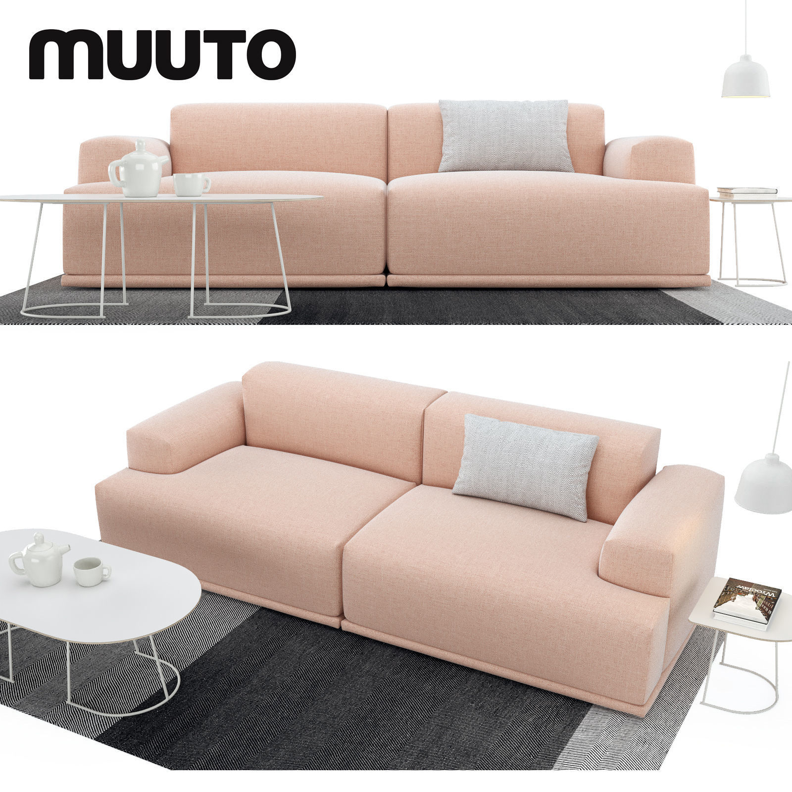 Sofa set 3D model book